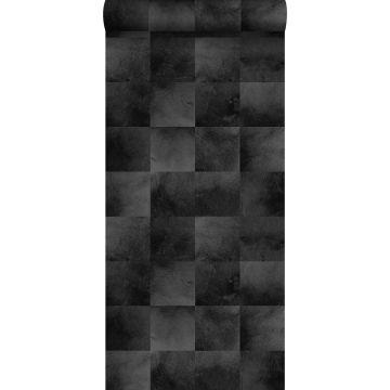 papier peint peau d'animal noir de ESTA home