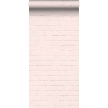 papier peint brique rose clair de ESTA home