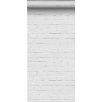 papier peint brique gris clair de ESTA home