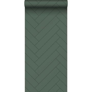 papier peint chevron vert foncé de ESTA home