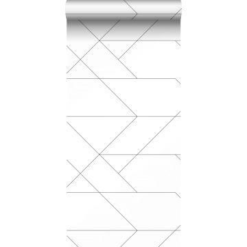 papier peint lignes graphiques noir et blanc de ESTA home