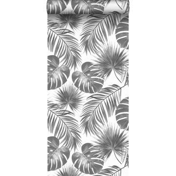 papier peint feuilles tropicales noir et blanc de ESTA home