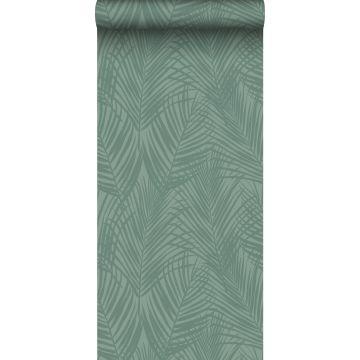 papier peint feuilles de palmier vert grisé de ESTA home
