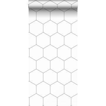 papier peint hexagone noir et blanc de ESTA home