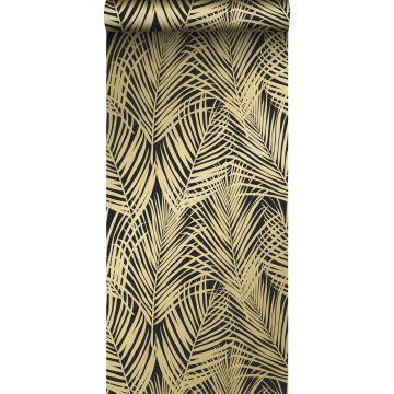 papier peint feuilles de palmier noir et or de ESTA home
