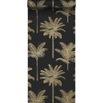 papier peint palmiers noir et or de ESTA home