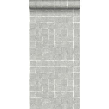 papier peint motif de carrellages gris de ESTA home
