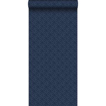 papier peint motif oriental bleu de ESTA home