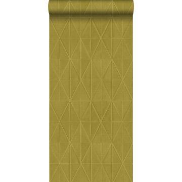PP intissé éco texture origami jaune ocre de ESTA home