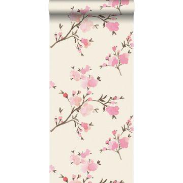PP intissé éco texture fleurs de cerisier rose de ESTA home