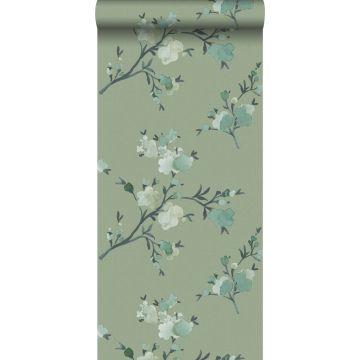 PP intissé éco texture fleurs de cerisier vert de ESTA home