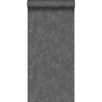 papier peint uni à effet pictural gris foncé de ESTA home