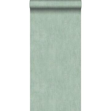 papier peint uni à effet pictural vert céladon de ESTA home