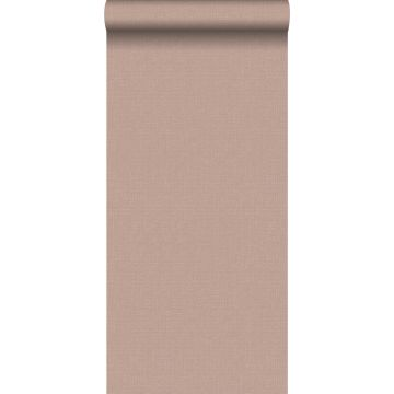 papier peint effet lin rouge grisé clair de ESTA home