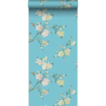 PP intissé éco texture fleurs de cerisier bleu-Van-Gogh de ESTA home