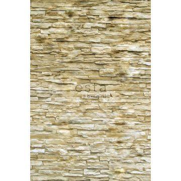 papier peint panoramique brique beige de ESTA home