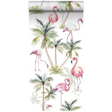 papier peint intissé XXL flamants rose de ESTA home