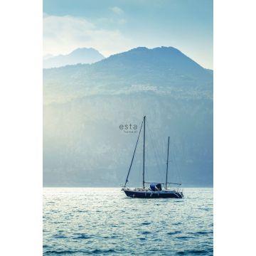 papier peint panoramique voilier bleu de ESTA home