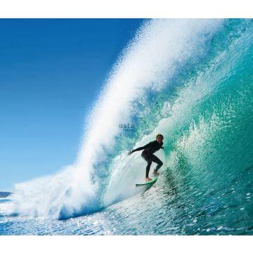papier peint panoramique surfeur bleu et bleu canard de ESTA home