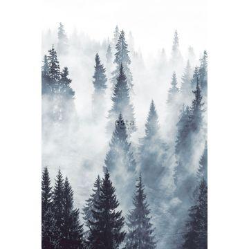 papier peint panoramique forêt brumeuse vert de ESTA home