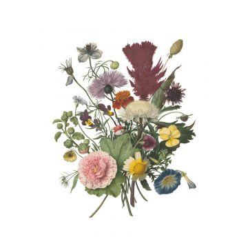 papier peint panoramique bouquet vert, rose, jaune et violet de ESTA home