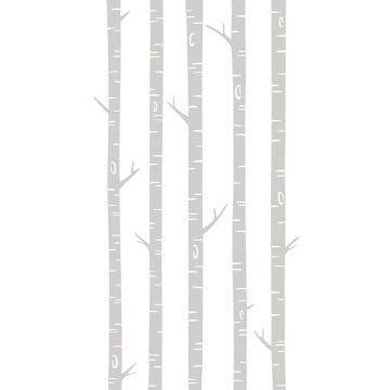 papier peint panoramique troncs de bouleau gris de ESTA home