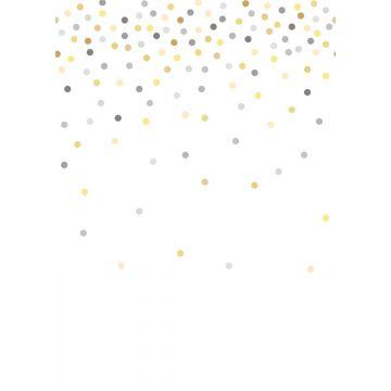 papier peint panoramique points de confettis jaune et gris de ESTA home