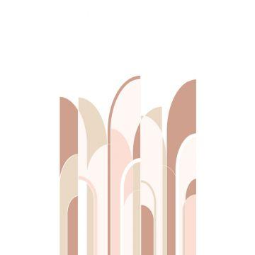 papier peint panoramique art déco terracotta et rose clair de ESTA home