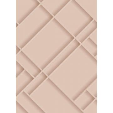 papier peint panoramique panneaux de bois rose clair de ESTA home