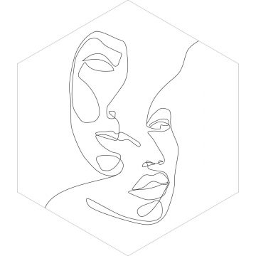 sticker mural visages noir et blanc de ESTA home