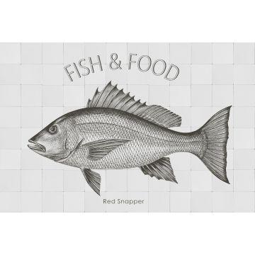 sticker mural poisson noir de ESTA home