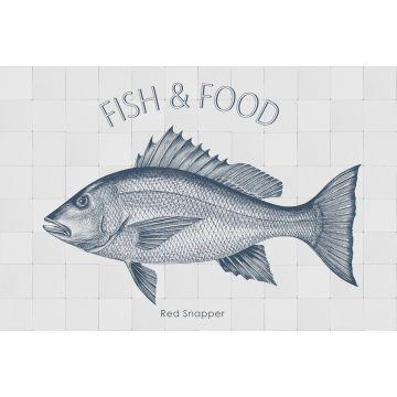 sticker mural poisson bleu de ESTA home