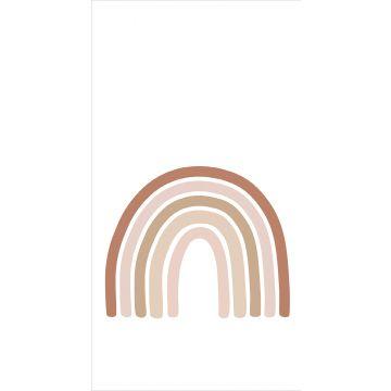 papier peint panoramique arc en ciel terracotta, rose clair et beige de ESTA home