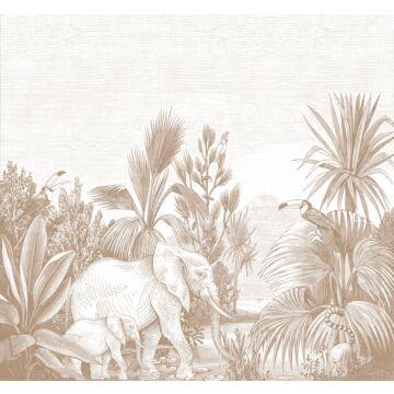 papier peint panoramique jungle terracotta de ESTA home