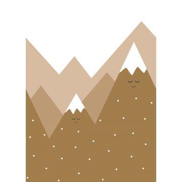papier peint panoramique montagnes jaune ocre de ESTA home