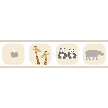 frise papier peint animaux beige de ESTA home