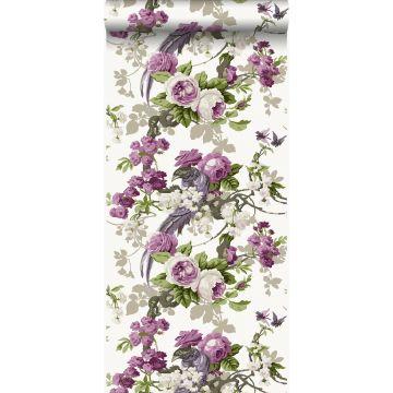 papier peint oiseaux de paradis violet de Origin