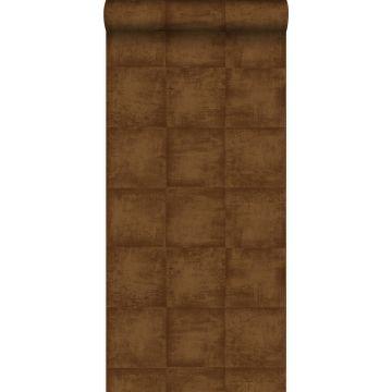 papier peint uni brun cuivré brillant de Origin