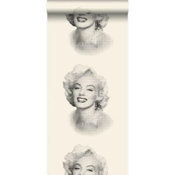 papier peint Marilyn Monroe blanc et noir de Origin