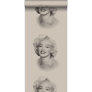 papier peint Marilyn Monroe gris et noir de Origin