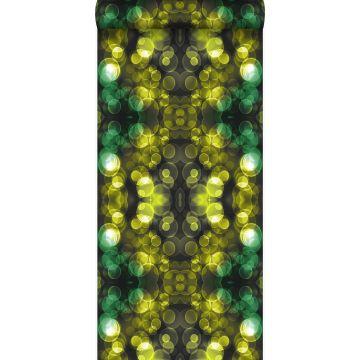 papier peint kaléidoscope jaune et vert de Origin