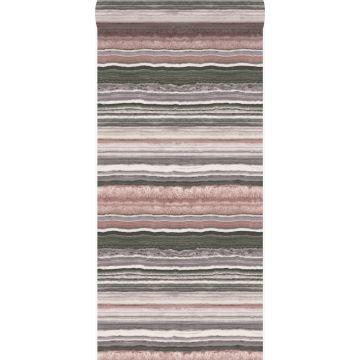 papier peint pierre de marbre en couches rose quartz de Origin