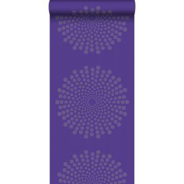 papier peint forme graphique violet de Origin