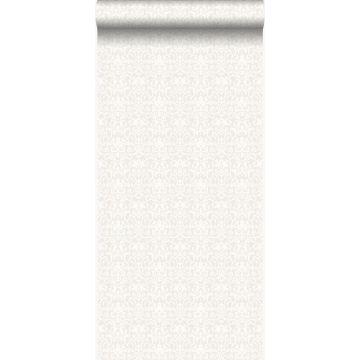 papier peint ornement blanc et gris clair de Origin