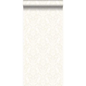 papier peint ornement argent et blanc de Origin