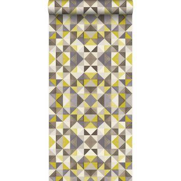 papier peint cubique jaune ocre de Origin