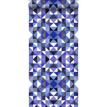 papier peint cubique violet de Origin
