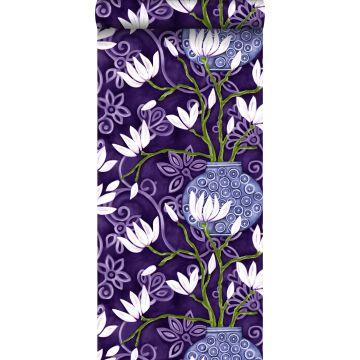 papier peint magnolia violet de Origin