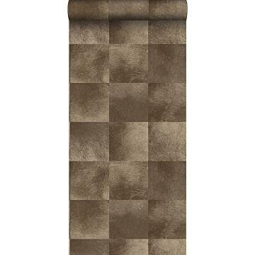 papier peint texture de peau d'animal brun foncé de Origin