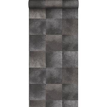 papier peint texture de peau d'animal gris foncé de Origin